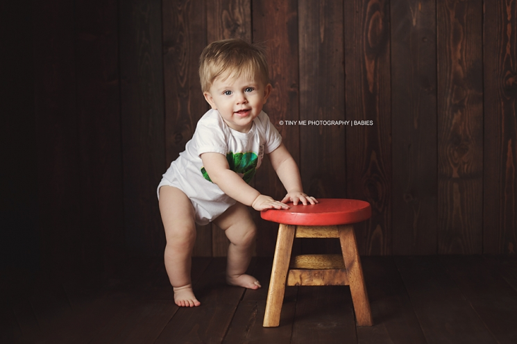 one year old baby photography standing up baby session