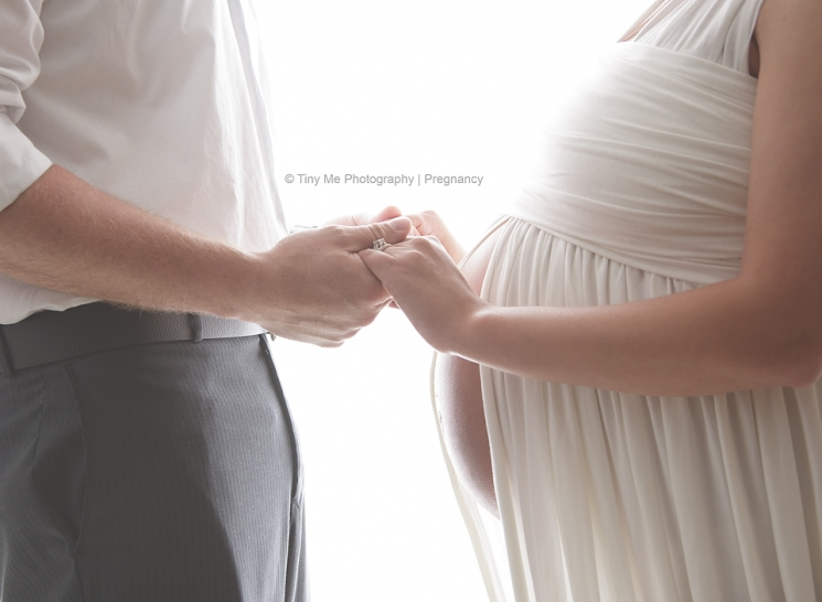 pregnany mom holds fathers hands maternity photography