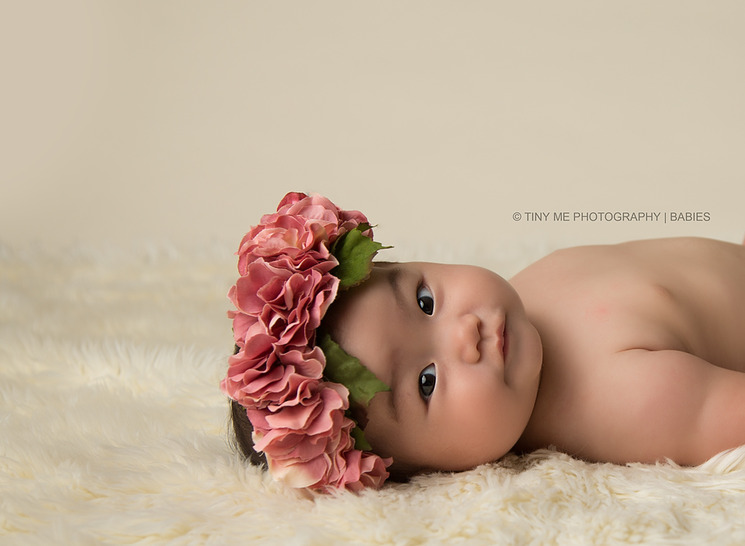 beautiful 6 month old girl professional photography