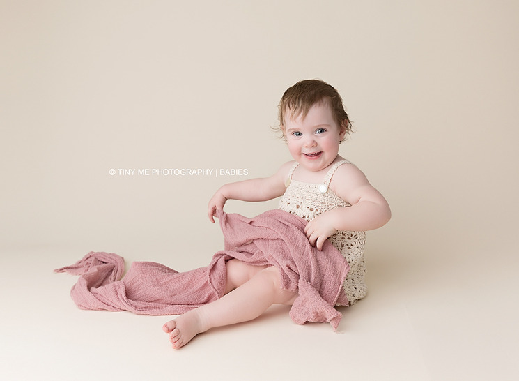 one year old baby girl professional photography session